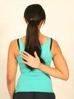 Hand behind back (medial rotation)