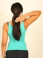 Hand behind neck (Lateral rotation)